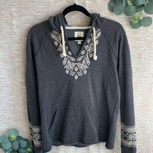 [Billabong] Boho Distressed Hoodie Sweatshirt